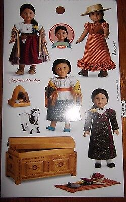 American Girl Doll Sticker Sheet-Josefina Sombrita-Decorations Scrapbook Crafts!