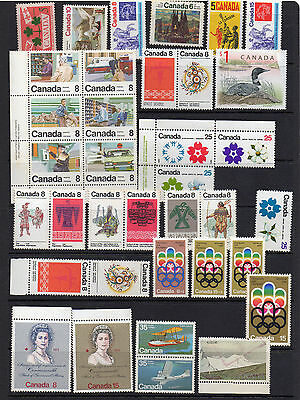 Accumulation Of Canada Mnh & Mint Stamps