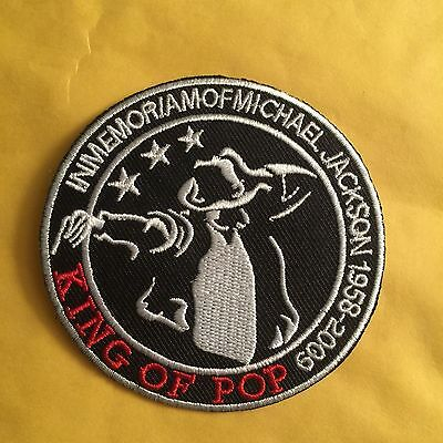 """Michael Jackson King Of Pop 3"""" Patch Iron On Or Sew On* Us Seller Free Ship"""