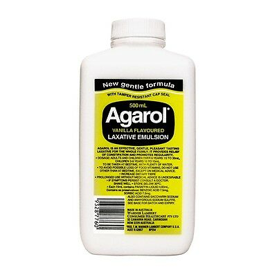 Agarol Vanilla Flavoured Laxative Emulsion 500 Ml