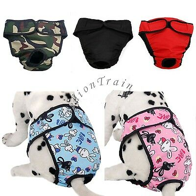 Puppy Pet Dog Female Cute Sanitary Pant Short Panties Diaper Underwear Washable