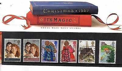Angleterre  Christmas 1987 Pack Timbres Numerote 185