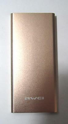 Awei Power Bank 8000mAh portable charger Gold