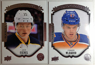 2015-16 CONNOR MCDAVID & JACK EICHEL Upper Deck UD S1 Portraits Rookie Lot of 2