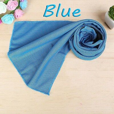 Instant Cooling Towel Chilling Ice Cold Gym Outdoor Sports & Camping- Light Blue