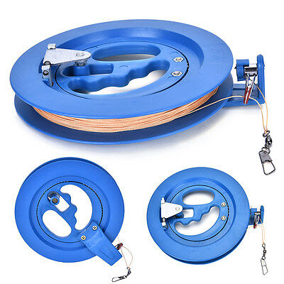 16cm Kite Reel plastic+polyester Blue String Line Reel Grip Wheel Handle Tool li