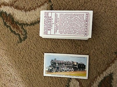 imperial publishing wills railway engines full set of 50 cards