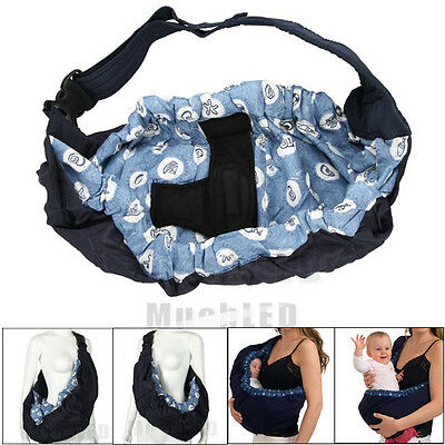 Baby Infant Newborn Adjustable Carrier Sling Wrap Rider Backpack Pouch Ring