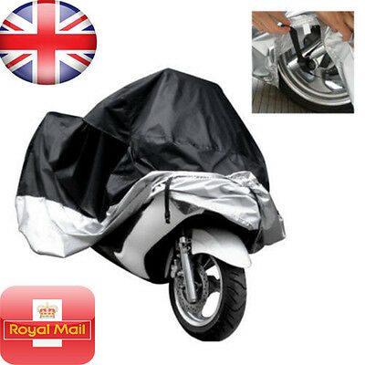Waterproof Motorcycle Cover Sheet Motorbike Moped Scooter Rain Large Size XL UK