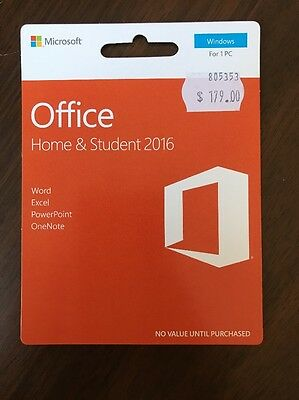 BRAND NEW!! Microsoft Office Home & Student 2016