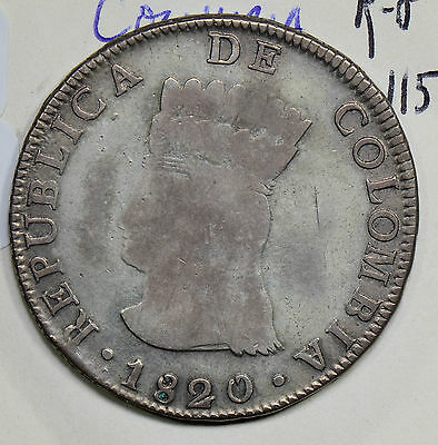 C0209 Colombia 1820  8 Reales silver   combine shipping