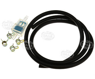 Motorbike Scooter 6mm Gas Inline Fuel Filter & Petrol Pipe Hose Line Pipe Clip