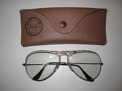 Ray Ban USA Vintage Sonnenbrille Photosun Sunglasses Original B & L Red Metal