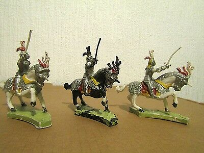 Cherilea Medieval Mounted Knights  1958
