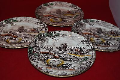 Made in Staffordshire.YORKSHIRE. 4 tea /salad /side plates