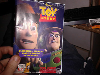 Toy Story super nintendo snes MANUAL ONLY