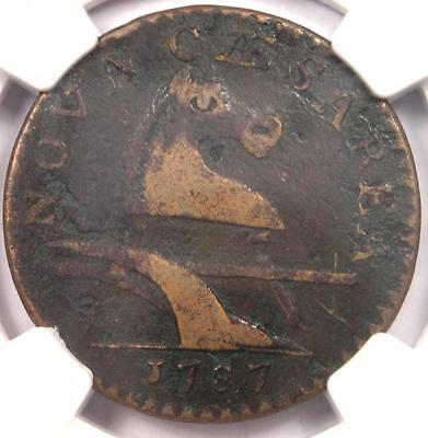 1787 New Jersey Colonial Copper Coin - Certified NGC VF Details - Rare!