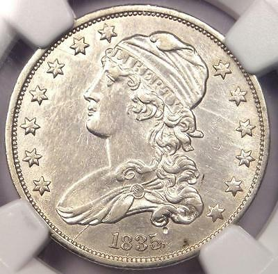 1835 Capped Bust Quarter 25C - NGC AU Details - Rare Early Date Coin in AU!