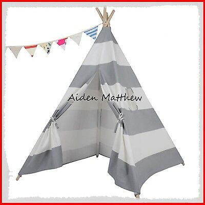 WIGWAM KIDS CHILDRENS INDOOR OUTDOOR INDIAN TEEPEE HOUSE TENT 145CM GRAY COlOR