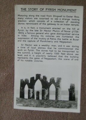 Real photograph - unposted  postcard of Fyrish Monument