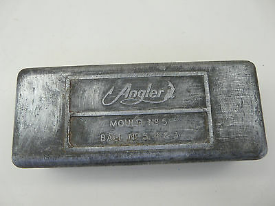 Vintage ANGLER Double Sided Fishing Sinker Mould No.5; Ball Size 5,4 & 3