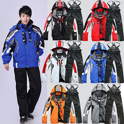 Men's Ski Suit Winter Thicken Jacket Skiing/Snowboarding Suit Pants Waterproof