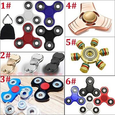 3D Fidget Hand Finger Spinner EDC Focus Stress Reliever Toys For Kids Adults AA