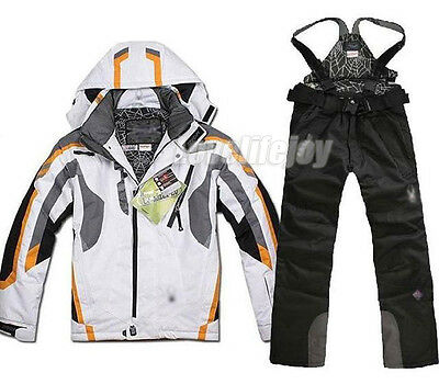 Waterproof Men Ski Jacket&Pants Skiing Suit Snowboarding Thicken Warm S M L XL