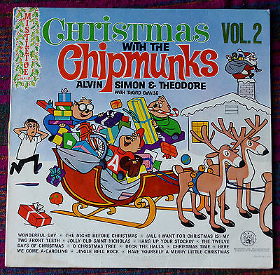 Christmas With The Chipminks Vol.2 LP – MLP 1217 – VG