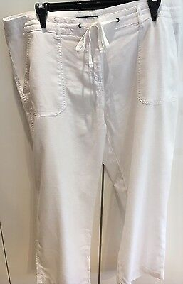 *LIKE NEW* SPORTSCRAFT White Linen Pants Size 14 Excellent Condition