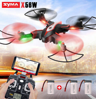 Syma X5SW-1 6-Axis Quadcopter RC Drone Real Time WIFI Camera 2MP FPV + 2 Battery