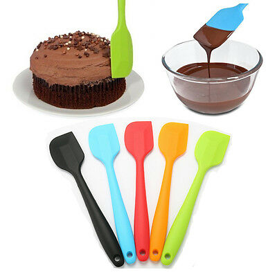 Silicone Rubber Cake Cream Butter Spatula Mixing Baking Scraper Brush Cook Tool