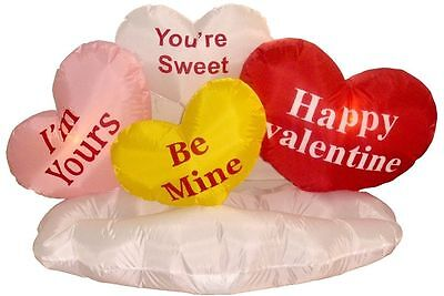 Valentine's Day Inflatable Hearts Cloud Indoor Outdoor New Yard Lawn Decoration