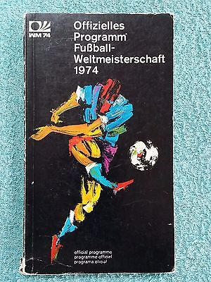 1974 - Official World Cup Tournament Programme - 144 Pages