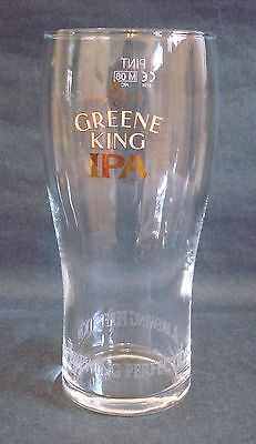 Greene King Ipa Bitter Beer Ale Pub Home Bar Collectors Pint Glass Ce Stamped