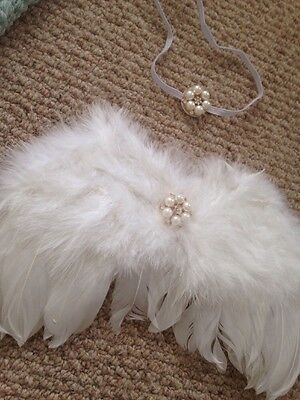 Angel Wings Baby Prop . Photo Props. Wings And Hair Band . Baby Fancy Dress Prop