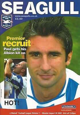 Brighton & Hove Albion v Walsall, 26 August 2002, Division 1