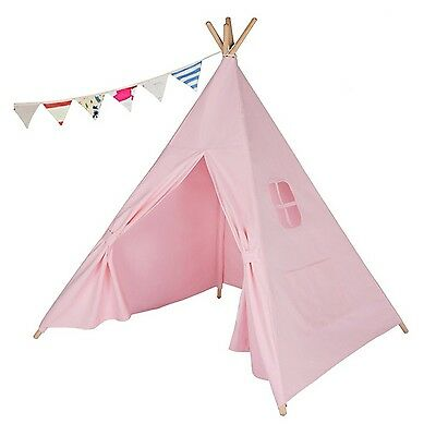 WIGWAM KIDS CHILDRENS INDOOR OUTDOOR INDIAN TEEPEE HOUSE TENT 145CM PINK COlOR