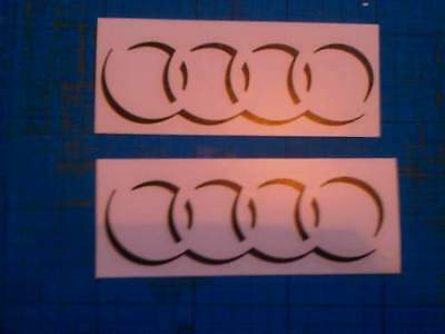 Audi Rings Shadow Decals Stickers TT R A3 A4 A6 S line R8 all Colours