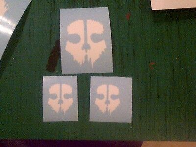 Call of Duty Black Ops Ghost Skull Decal Sticker PS3 XBOX 360 Controller Mod