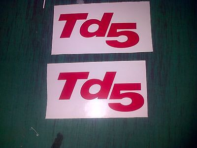 TD5 Land Rover Defender Silver Wing  Decal Sticker 90 110 Discovery 4x4