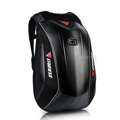 DAINESE D-Mach 3 Carbon Weave 22L Hard Shell Case Motorcycle Bike Backpack Bag