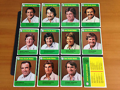 1978 Scanlens Cricket cards complete set 72 cards Near Mint unmarked checklists