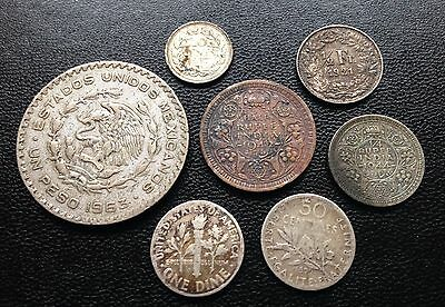 33.1 Grams Of World Silver Coins Collect Resell Scrap Silver Collection Bulk Lot