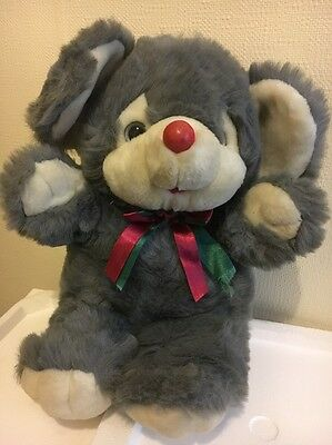 Grey Large Mouse Stuffed Toy