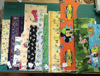 patchwork & quilting fabric bundle job lot 100% cotton sewing crafts 11 pieces
