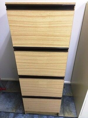 Timber Filing Cabinet With Key