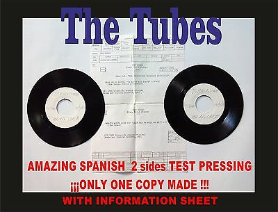 THE TUBES TALK TO YA LATER Amazing Spanish Test Pressing. Only 1 copy made!