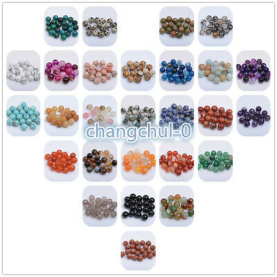 Wholesale Natural Gemstone Round Space Loose Beads 4MM 6MM 8MM 10MM 12MM