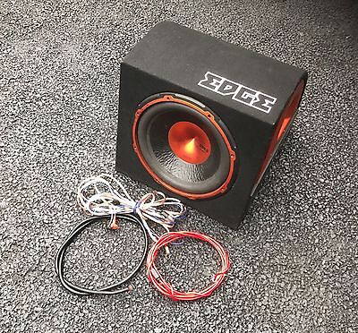 Edge 12 Active Enclosure Sub And Amp Built In + Wiring Kit